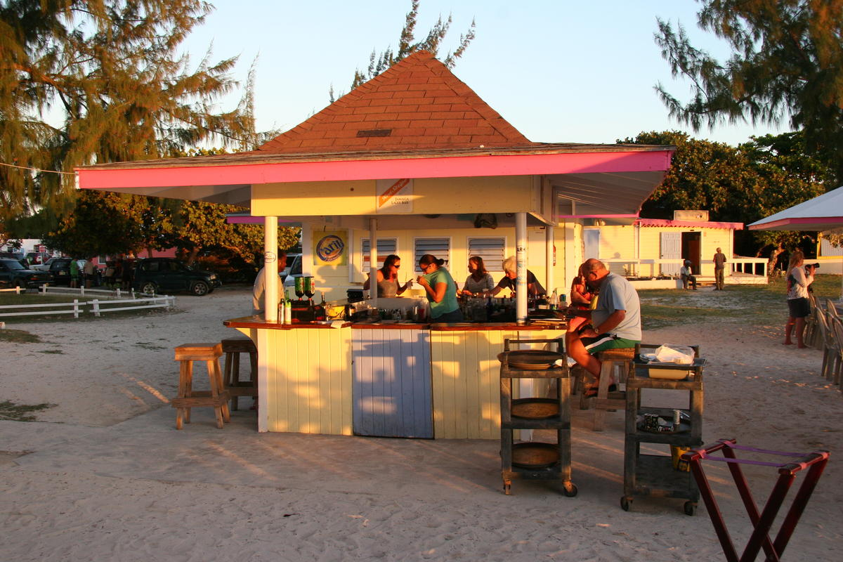 Sunset at the bar