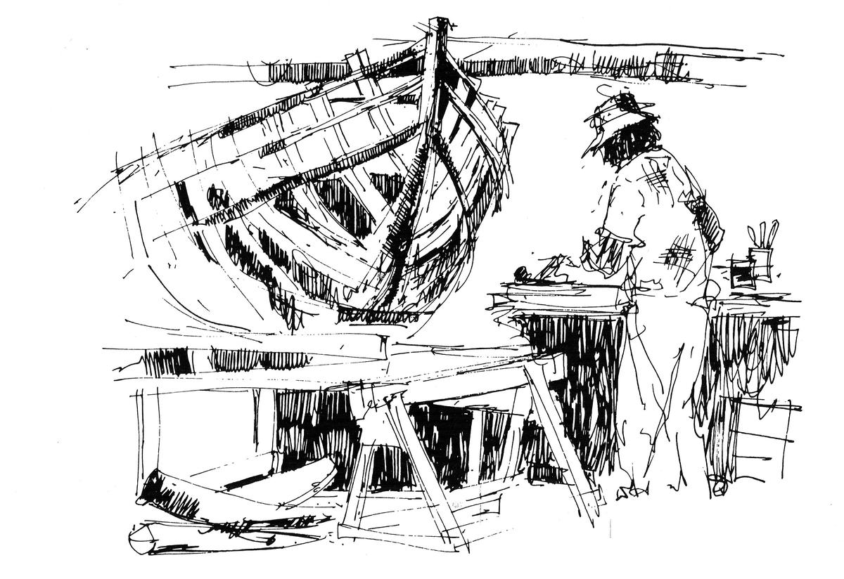 Boat Building sketch