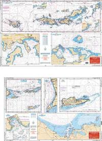 Waterproof Navigation Charts: US & British Virgin Islands
